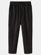 Mens 100% algodón a rayas transpirable casual todos los días Pantalones - Negro