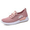 Women Lightweight Comfy Breathable Mesh Slip On Flat Sneakers - Pink
