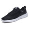 Men Mesh Breathable Lace Up Light Weight Sport Running Shoes - Black2