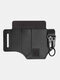 Vintage EDC Outdoor Wearable Tactical Tool Holster Waist Bag Stitch Craft Multiple Storage Holes With Keychain - Black