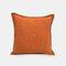 Solid Color Sofa Pillowcase Polyester Linen Creative Car Cushion Room Living Room Pillow - Orange
