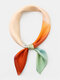 Women Silk Dual-use Color-match Fashion All-match Headscarf Square scarf - Fruit Green Orange Red