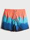 Caleçon de bain de plage à cordon de serrage à séchage rapide pour homme avec poche - Orange