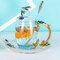 Эмалированная чашка Подарочная чашка Цветочная чашка Стеклянная эмалированная чайная кружка Кофейная чашка с ложкой - №6