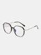 Unisex Oval Full Frame Flat-light Fashion Simple Glasses - #01
