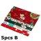 5/10Pcs Cartoon Christmas Series Twill Cotton Fabric DIY Handmade Patchwork Sewing Fabric - #2