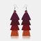 Bohemian Handmade Multi-layer Tassel Earrings Irregular Gradient Tassel Long Earrings - 3