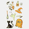 Halloween Luminous Tattoo Children Cartoon Stickers Body Art Waterproof Fake Temporary Tattoo Transfer Paper - 08
