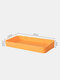 Wall-Mounted Punch-Free Easy Assembly Hanging Board Hook Rack Shelf DIY Bathroom Kitchen Storage Holder Hole Plate Wall Decor Display Stand - Yellow Rectangle Box