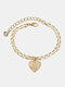 Luxury 26 English Letters Women Anklet Wild Heart Pendant Anklet Jewelry Gift - M