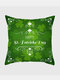 Happy St. Patrick's Day Cushion Cover Clover Leaves Printed Pillowcase For Home Sofa Decoration Festival Ornament Irish Party - #29