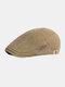 पुरुषों कपास सादा रंग समायोज्य आरामदायक फ्लैट टोपी आगे टोपी टोपी टोपी - हरा