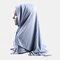 Solid Color Bubble Knit Scarf Women Muslim Hijab Long Scarf Wrap Scarves - #04