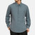 Mens Chinese Style Casual Solid Color Long Sleeve Lapel Henley Shirt