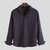 Mens Casual Comfortable 100% Cotton Long Sleeve Plaid Lapel Shirt - Red