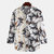 Mens Bamboo Printed Turn Down Collar Long Sleeve Casual Shirts - As Picture