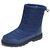 Men Waterproof Cloth Mid-calf Outdoor Warm Lining Ankle Boots - Blue