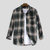 Mens Young Fashion Plaid Langarm Revers Brusttasche Shirt