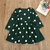Girl's Cute Dot Pattern Long Sleeves Casual Dress For 2-9Y