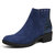 LOSTISY Veins Splicing Chunky Heel Ankle Casual Short Boots