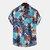 رجل هاواي الطيور نمط ورقة تنفس عارضة قمصان قصيرة الأكمام
