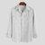 Chemise à manches longues à manches longues et à deux poches style sauvage 100% coton