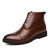 Men Stylish Carved Leather Non Slip Large Size Casual Ankle Boots