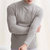 Mens Half Turtleneck Slim Warm Long Sleeve Solid Color T-Shirt