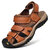 Men Genuine Leather Non Slip Anti-collision Casual Outdoor Sandals