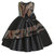 Girl's Sequined Bowknot Pleated Wedding Formal Princess Sleeveless Dress For 4-13Y
