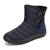 Buckle Cold Resistant Warm Fur Lining Waterproof Snow Ankle Boots For Women - Blue