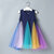 Girl Rainbow Striped Patching Dress For 2-9Y
