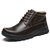 Men Hand Stitching Microfiber Couro Antiderrapante Casual Ankle Boots