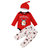 3Pcs Baby Christmas Penguin Pattern Long Sleeves Casual Rompers Set For 0-24M