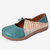 LOSTISY Adjustable Splicing Slip On Casual Flat Shoes - Blue