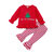 2Pcs Baby Christmas Long Sleeves Tops Striped Pants Casual Set For 0-24M