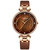 Classic Marble Rhinestone Inlay Quartz Watches Leather Strap Round Dial Waterproof Waist Watch