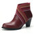 Women Comfy Pointed Toe Zipper Chunky High Heel Boots