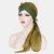 Mujer Gorro cruzado de frente Sombrero Gasa de moda de color sólido con cola larga