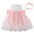 2Pcs Girl's Bowknot Lace Tulle Wedding Princess Formal Princess Dress For 0-18M