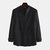 Mens Casual Comfortable Chinese Style Solid Color Long Sleeve Stand Collar Shirt