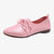 Women Soft Comfy Pointed Toe Lace Up Flat Shoes