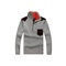 Mens Inverno Pullover Zipper Meia-cardigans Warm Fleece Forro Engrossar Camisola Casual