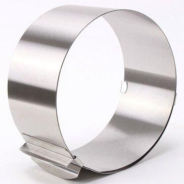 [{}} 6 bis 12 Zoll Edelstahl verstellbare Mousse Kuchen Ring Backform [{}} Diese einstellbare Mousse Kuchen Ring kann von 6 ~ 12 Zoll eingestellt werden. Auf dem Werkzeug sind verschiedene Zahlen eingraviert, so dass Sie die richtige Größe wählen können.