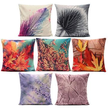 3D Plant Series Short Plush Throw Pillow Case Square Cushion Cover Home Sofa Car Decor