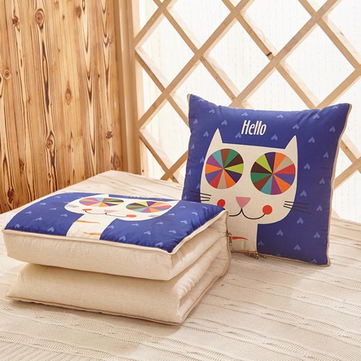Multi-function Foldable Pillow Quilt Air Condition Bolster P
