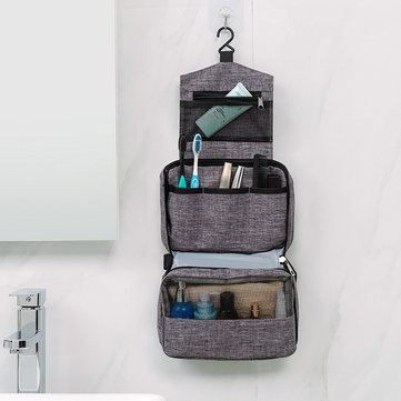 3-Layer Waterproof Wash Bag Folding Hanging Storage Bag