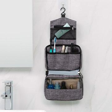 3-lagiger, wasserdichter Waschbeutel zum Falten und Aufhängen