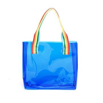 Honana HN-B65 Colorful Waterproof PVC Travel Storage Bag Clear Large Beach Outdoor Tote Bag