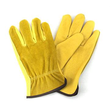 1Pair Leather Garden Labor Gloves